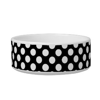 cool black and white polka dots bowl