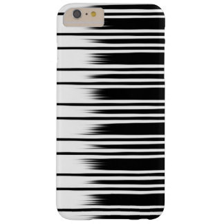 Cool Black and White Striped Pattern Barely There iPhone 6 Plus Case