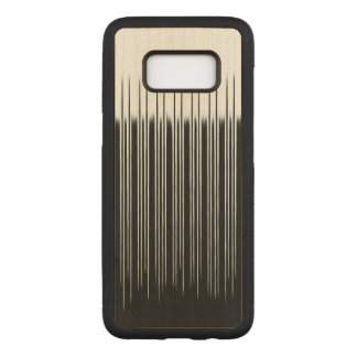Cool Black and White Striped Pattern Carved Samsung Galaxy S8 Case