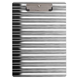 Cool Black and White Striped Pattern Clipboards