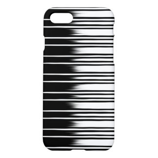 Cool Black and White Striped Pattern iPhone 8/7 Case