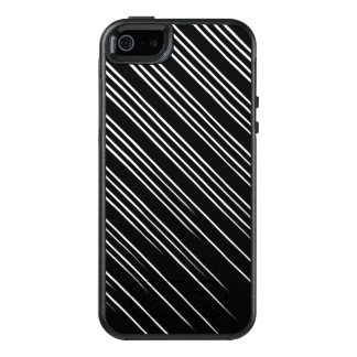 Cool Black and White Striped Pattern OtterBox iPhone 5/5s/SE Case