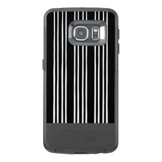 Cool Black and White Striped Pattern OtterBox Samsung Galaxy S6 Edge Case