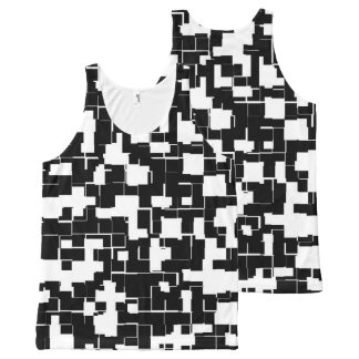 Cool Black and White Trendy Stylish Pattern All-Over-Print Tank Top