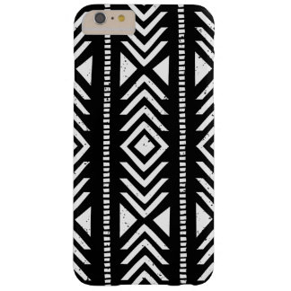 Cool Black and White Tribal Pattern Barely There iPhone 6 Plus Case