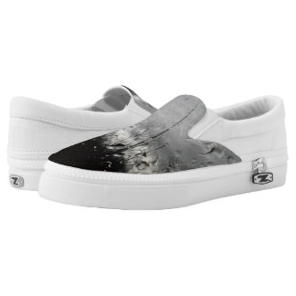 Cool black and white water drops Slip-On sneakers