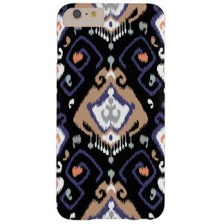 Cool black beige grey ikat tribal patterns barely there iPhone 6 plus case