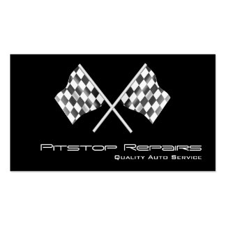Cool Black Checkered Flag Business Card