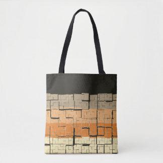 Cool Black Gray Orange Yellow Peach Pattern Tote Bag