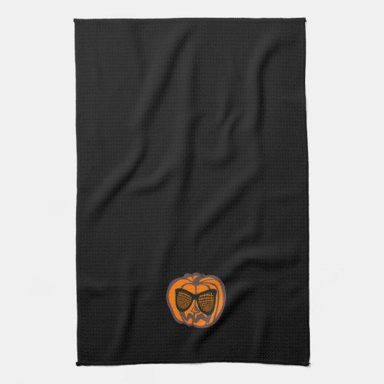Cool Black Halloween Pumpkin Towel
