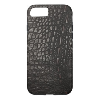 Cool Black Leather Alligator Skin iPhone 8/7 Case