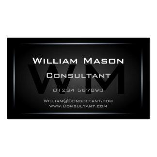Cool Black Monogram Professional - Hi-Res Business Card