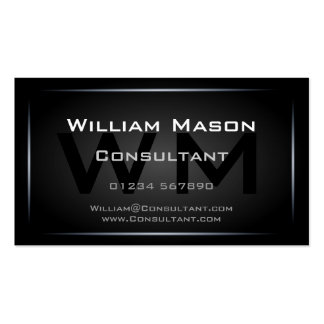 Cool Black Monogram Professional - Hi-Res Pack Of Standard Business Cards