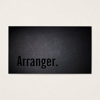 Cool Black Out Music Arranger Business Card