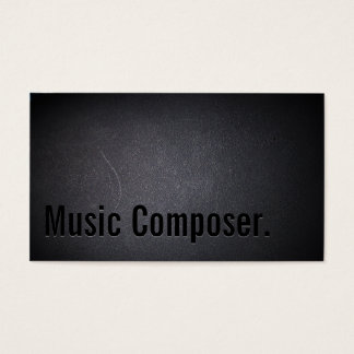 Cool Black Out Music Composer Business Card