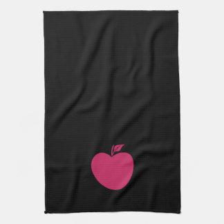Cool Black Pink Apple Towel