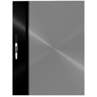 Cool Black Shiny Stainless Steel Metal Dry Erase Board