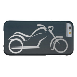 Cool Black Silver Motorcycle Frame Barely There iPhone 6 Case