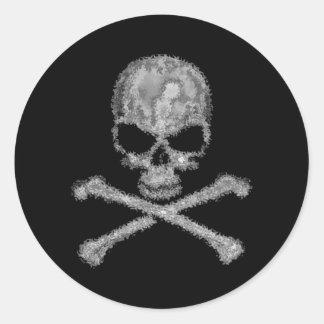 Cool black skull and crossbones stickers