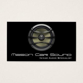 Cool Black Speaker Audio Technician Business Card