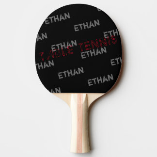 cool black table_tennis with name pattern ping pong paddle