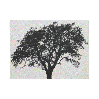 Cool Black Tree Print Design Doormat