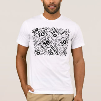 "Cool ""Black & White"" 30th Birthday T-shirt"