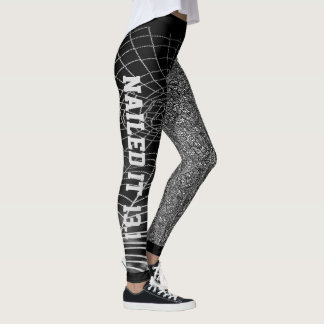 Cool Black & White Abstract Nailed It Leggings