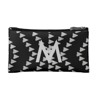 Cool Black White Arrow & Monogram Abstract Bag