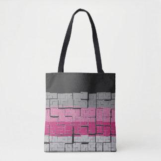 Cool Black White Gray Magenta Pink Pattern Tote Bag