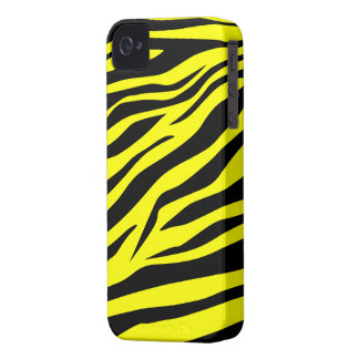 Cool Black/Yellow Zebra Print - iPhone 4/4s Case