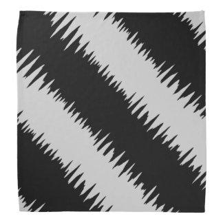 Cool Black Zigzag Striped Pattern Bandana