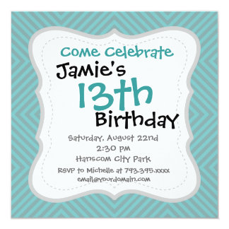"""Cool Blue and Gray Diamond Squares Pattern Gifts 5.25"""" Square Invitation Card"""