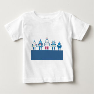 Cool Blue and Red Robots Novelty Gifts Tee Shirt