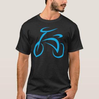 Cool Blue Bicycle Biking Logo T-Shirt