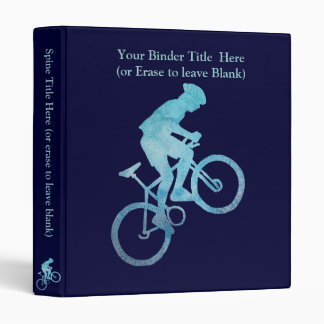 Cool Blue Biker 3 Ring Binders