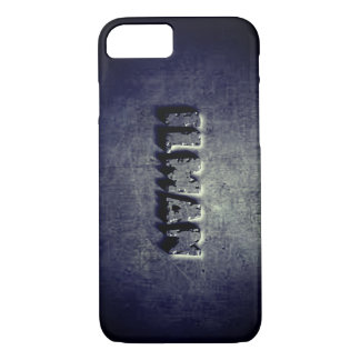 Cool Blue black steel graphic iphone 7 case