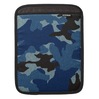 Cool Blue Camo Pattern Military iPad Sleeves