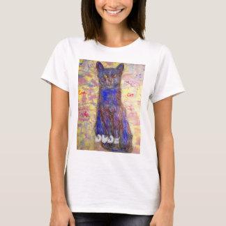 cool blue cat  Dude T-Shirt