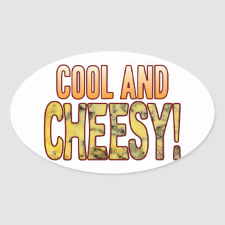 Cool Blue Cheesy Oval Sticker