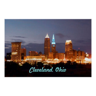 Cool Blue Cleveland Ohio Poster
