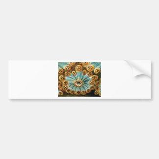 cool blue cream pattern bumper sticker