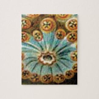 cool blue cream pattern jigsaw puzzle
