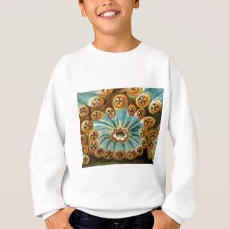 cool blue cream pattern sweatshirt
