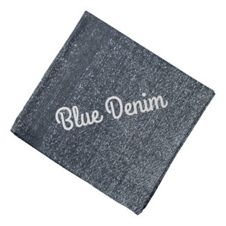 Cool Blue Denim Personalize This Bandanas