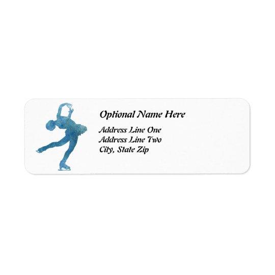 Cool Blue Figure Skater Return Address Label