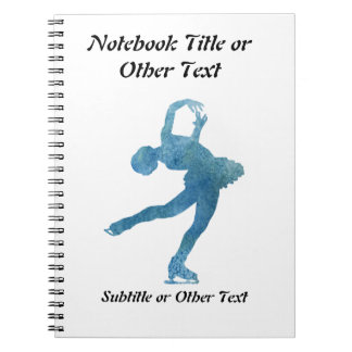 Cool Blue Figure Skater Spiral Notebook