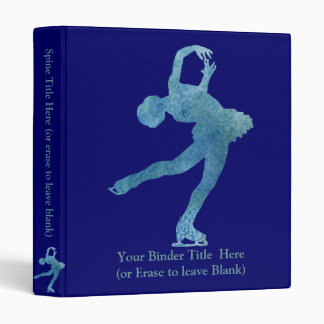 Cool Blue Figure Skater Vinyl Binders