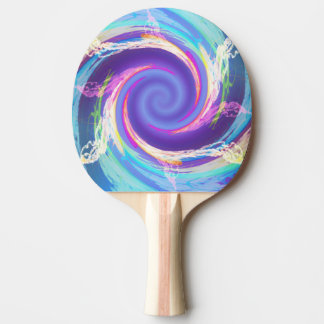 Cool Blue Fire Ping Pong Paddle