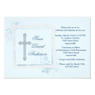 Cool Blue Flat Religious Invitation